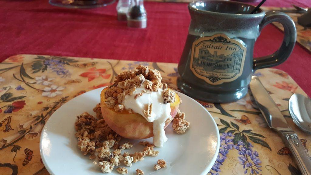 peach breakfast saltairinn