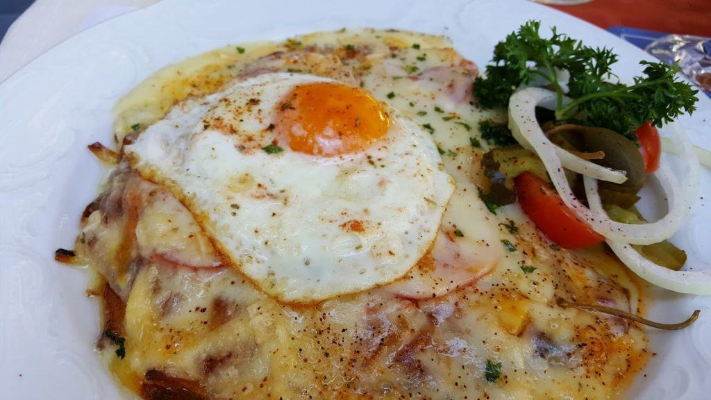 rosti with cheese and egg
